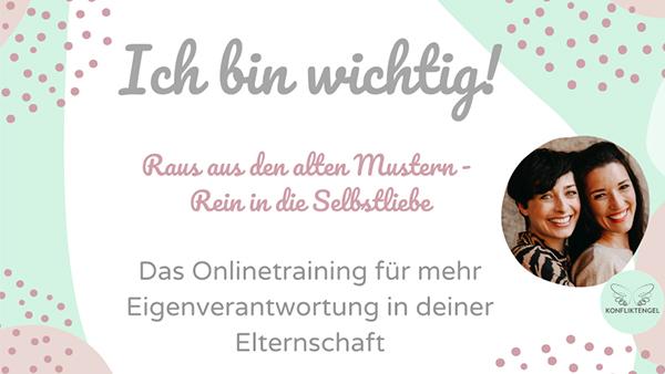 """Konfliktengel Training """"Ich bin Wichtig"""" mit Kathy Weber und Martina Stotz"""