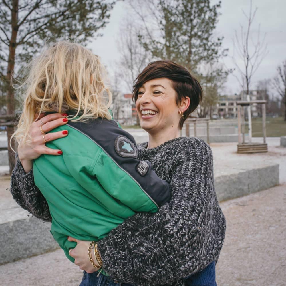 Kathy Weber mit Tochter